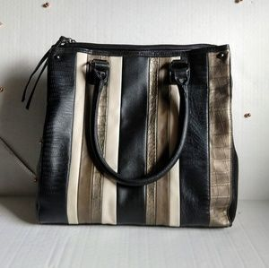 NWOT Apt. 9 Faux Leather Striped Pattern Bag
